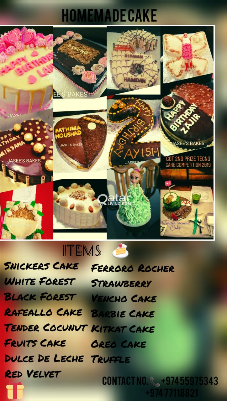 Home made cake reasonable prices | Qatar Living
