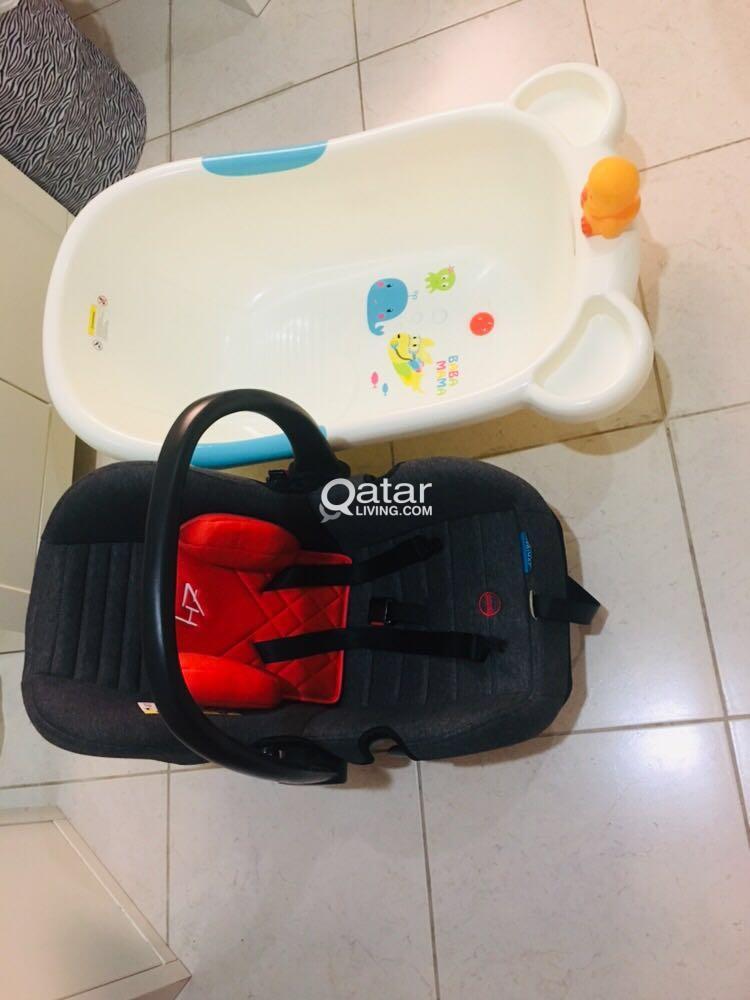 Baby Bathtub And Baby Car Seat Qatar Living