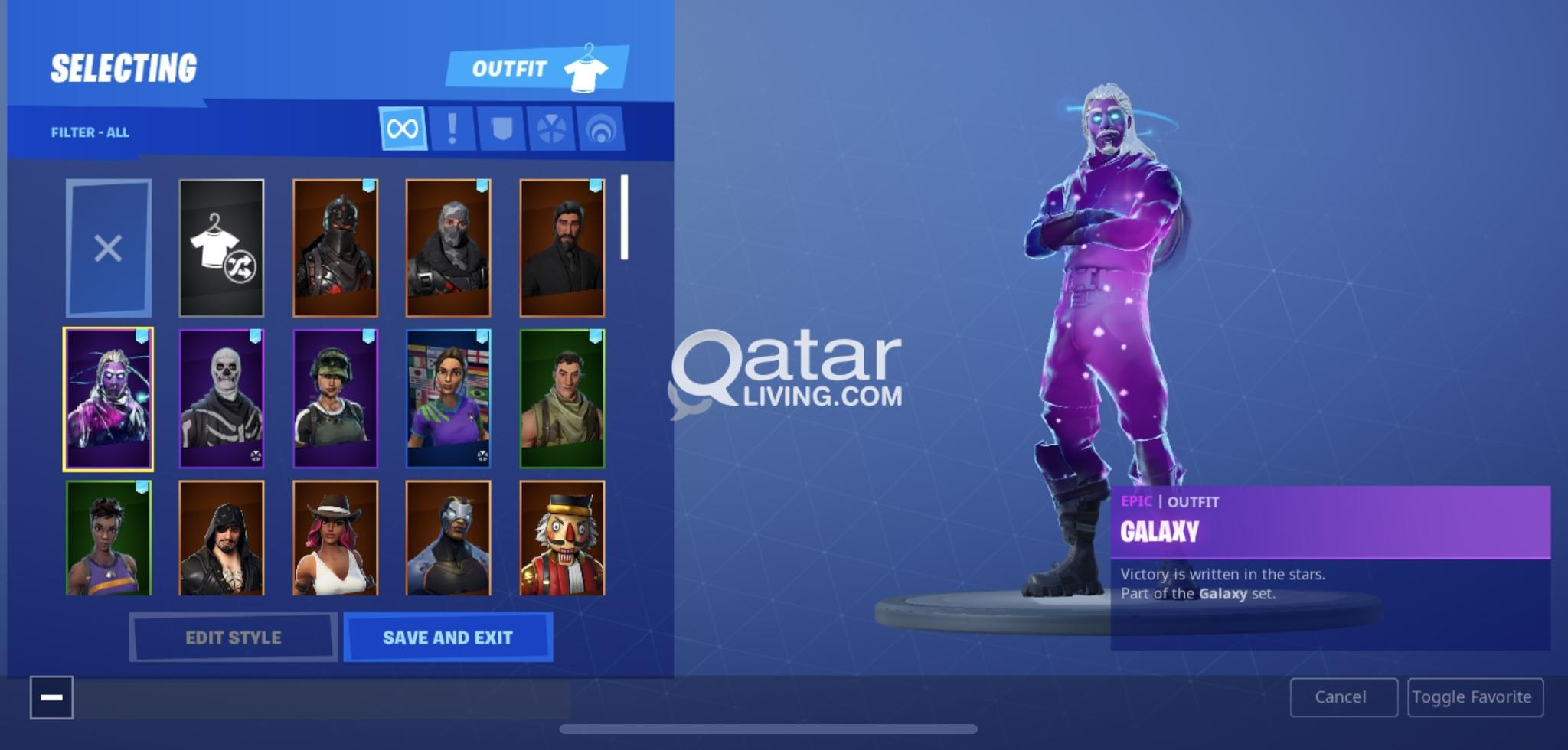 Epic Fortnite Account Galaxy Skin Save The World And Many More