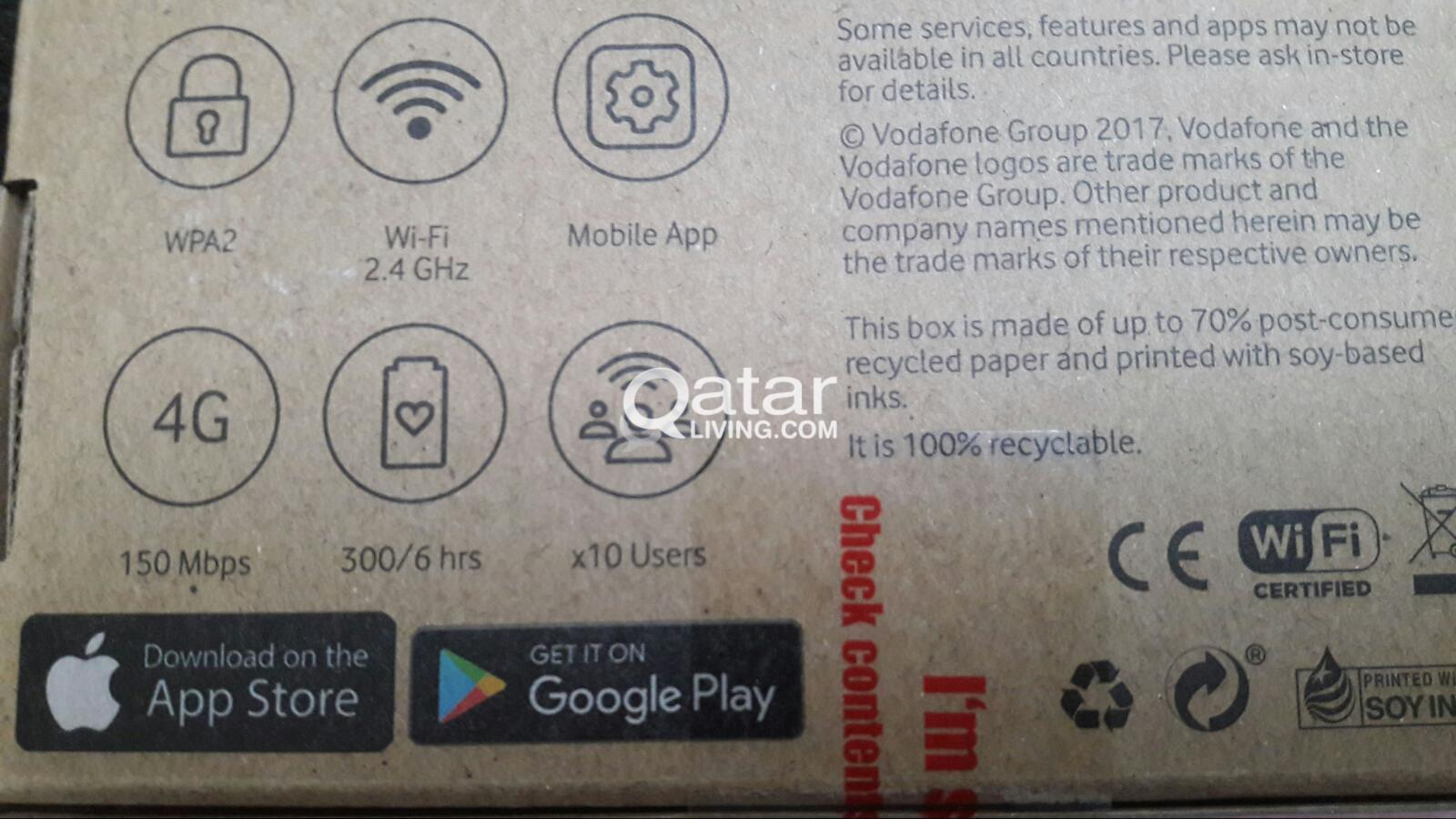 Unlimited Internet vodafone brand new wifi router with new