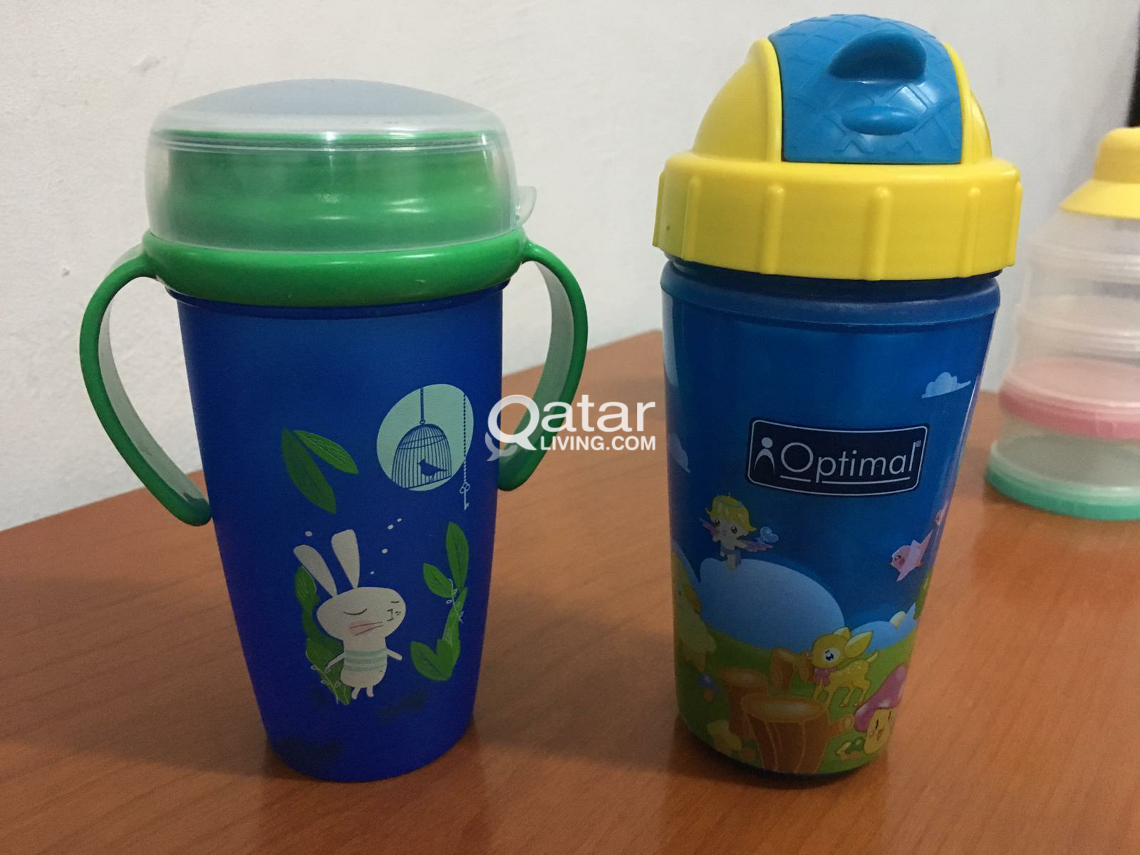 baby cups and bottles