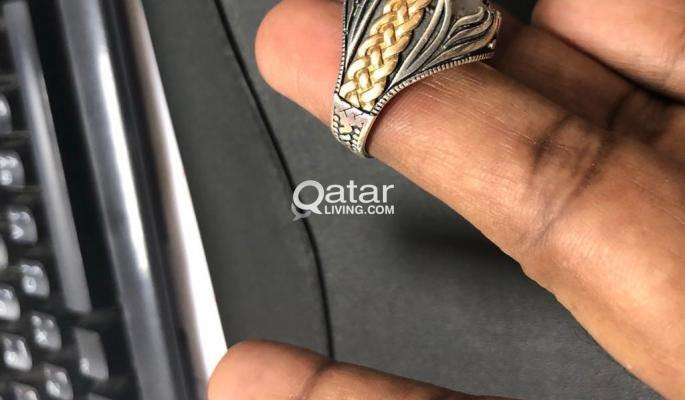 Brand New Awesome Turkey Design Stylish Men 925 Sterling Silver Aqeeq Ring for sale