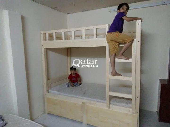 KIDS WOOD BUNK BED - FREE DELIVERY