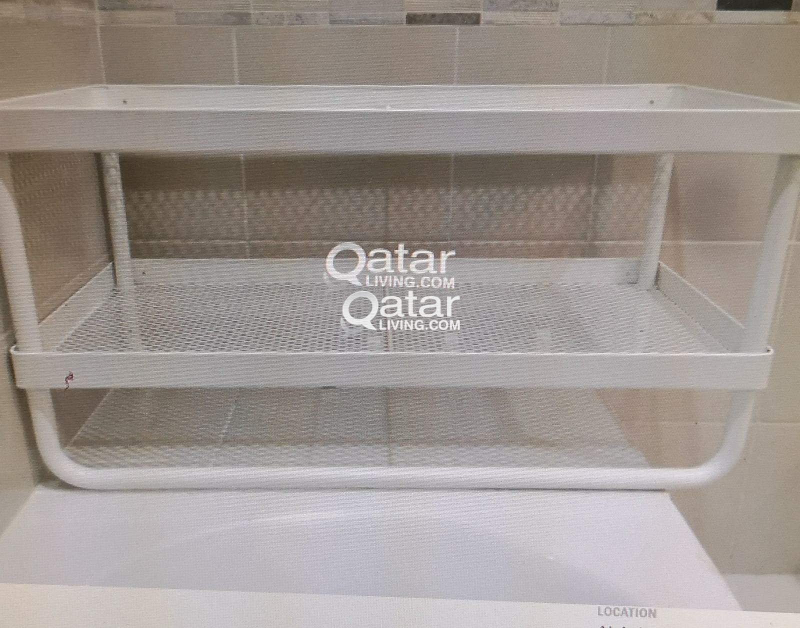 Ikea Bathroom Shelf Wooden Table Foil Dispenser Qatar Living