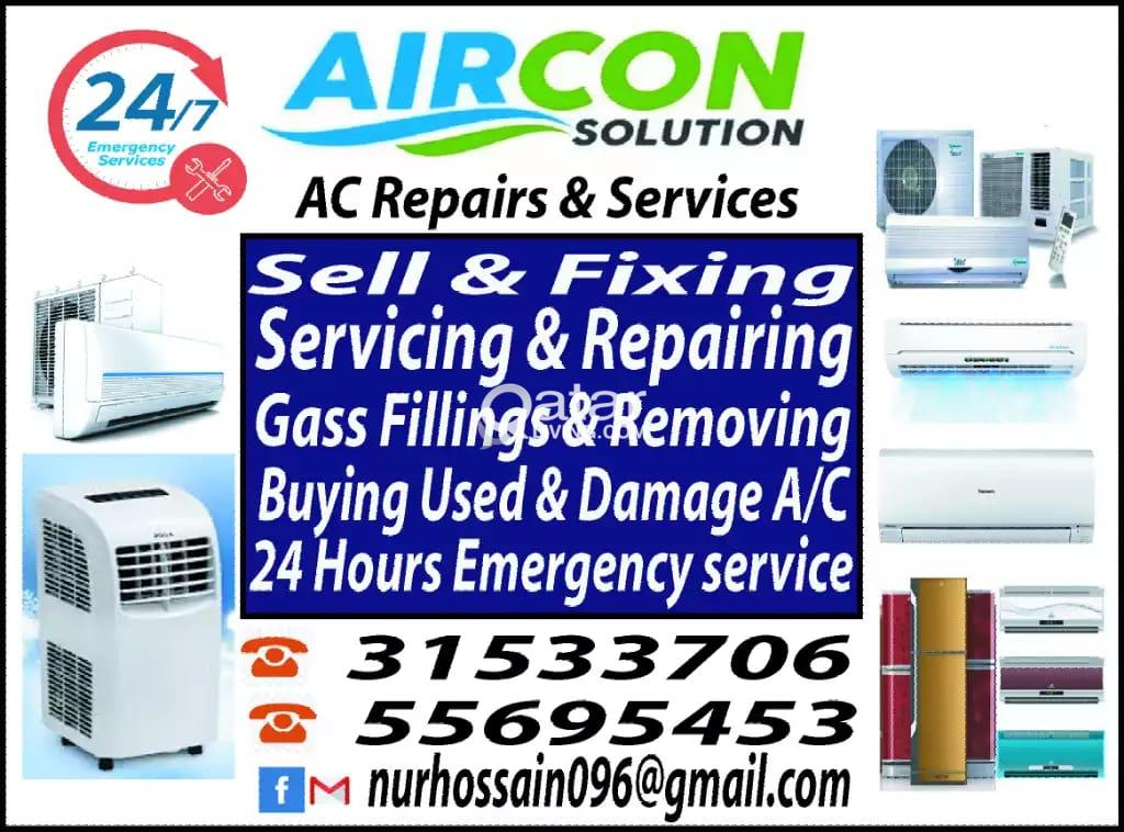 AC sale fixing and repair, maintenance,gas filling  BUY AND SELL
