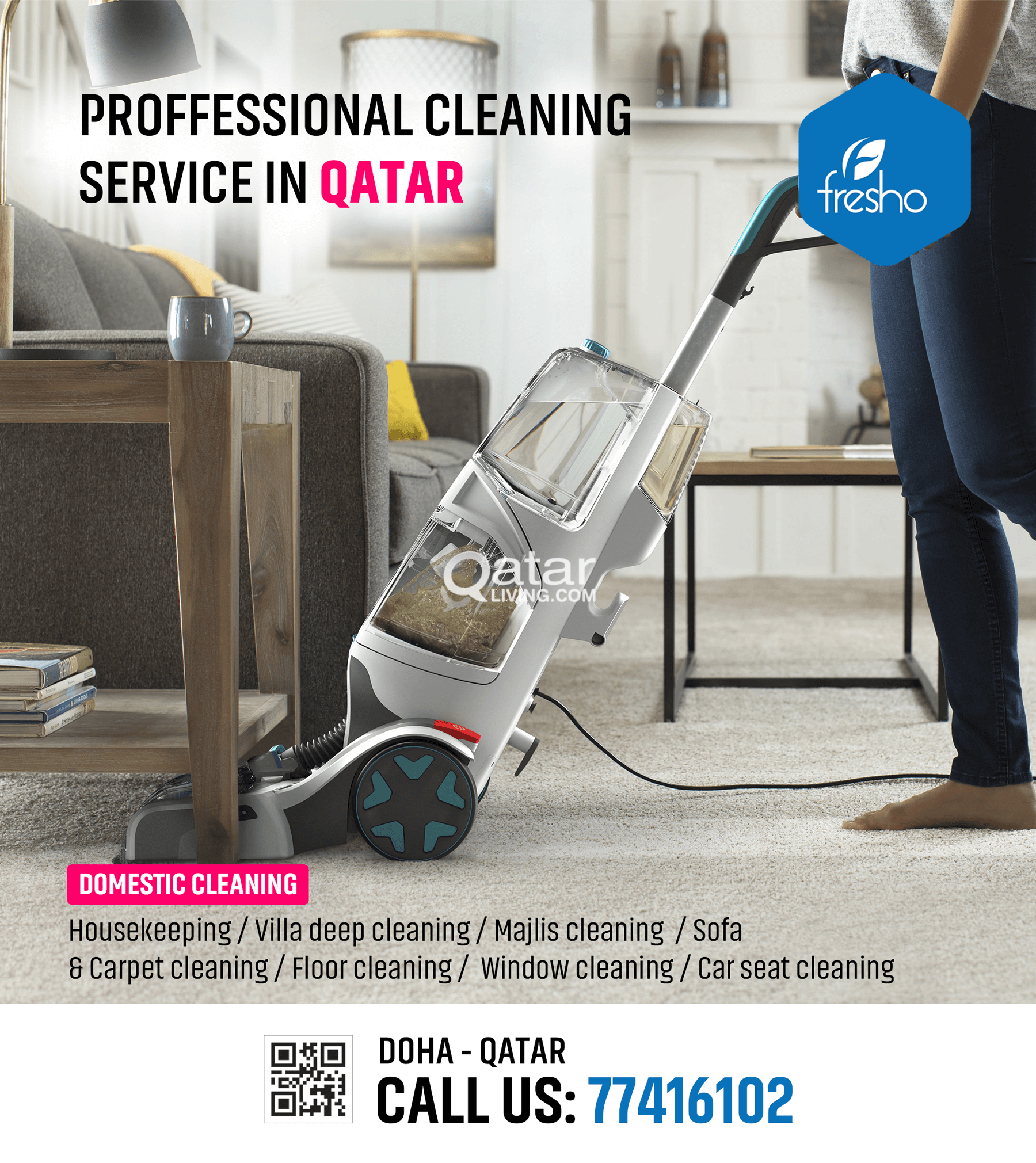 Professional Cleaning Service in Qatar Call us now 77416102