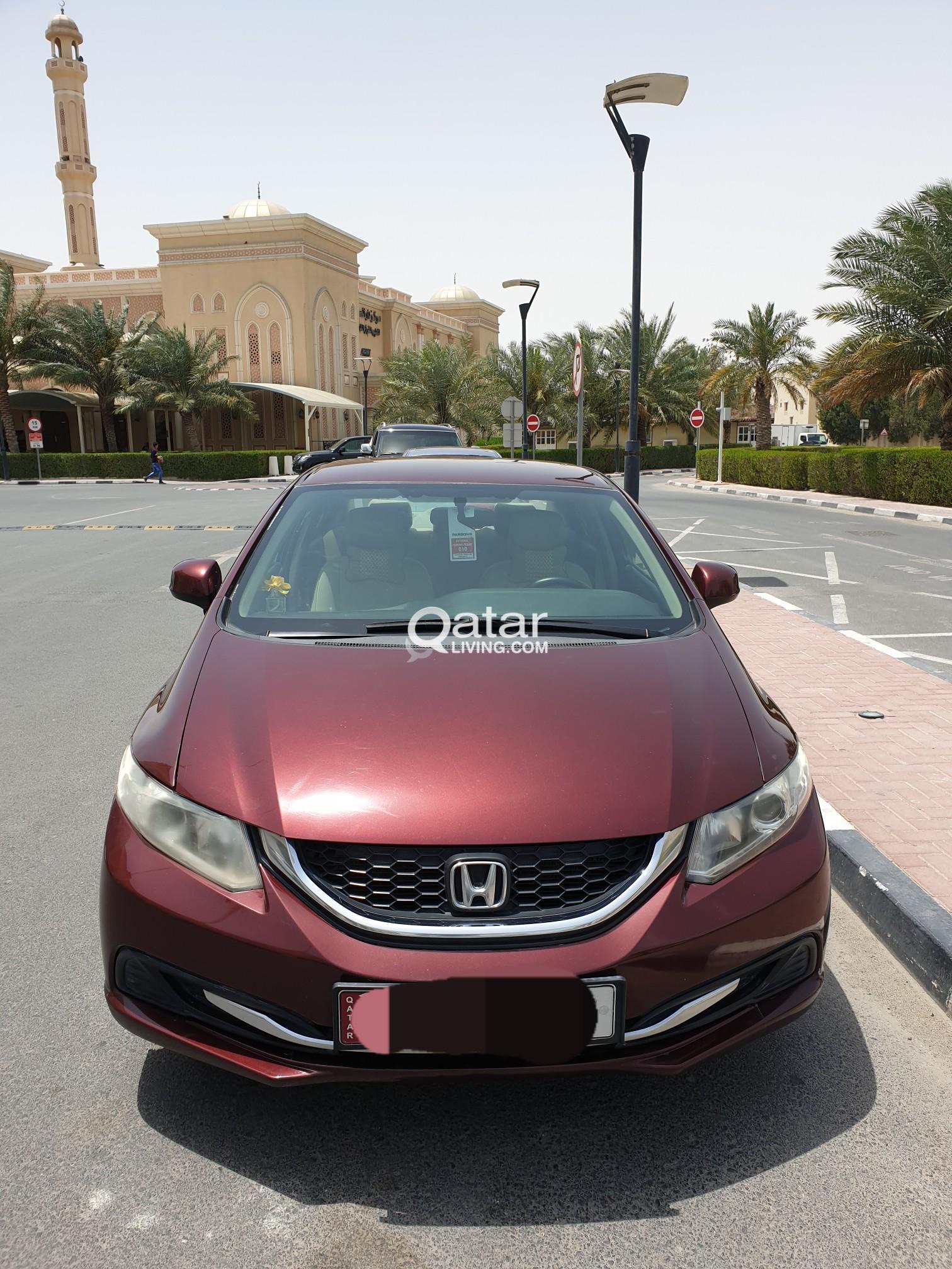 3f04681e8d73f2 New Istimara(Registration) Honda Civic 2013 in Excellent condition (Maroon  Color) Contact: 33271881 Call/Whatsapp | Qatar Living