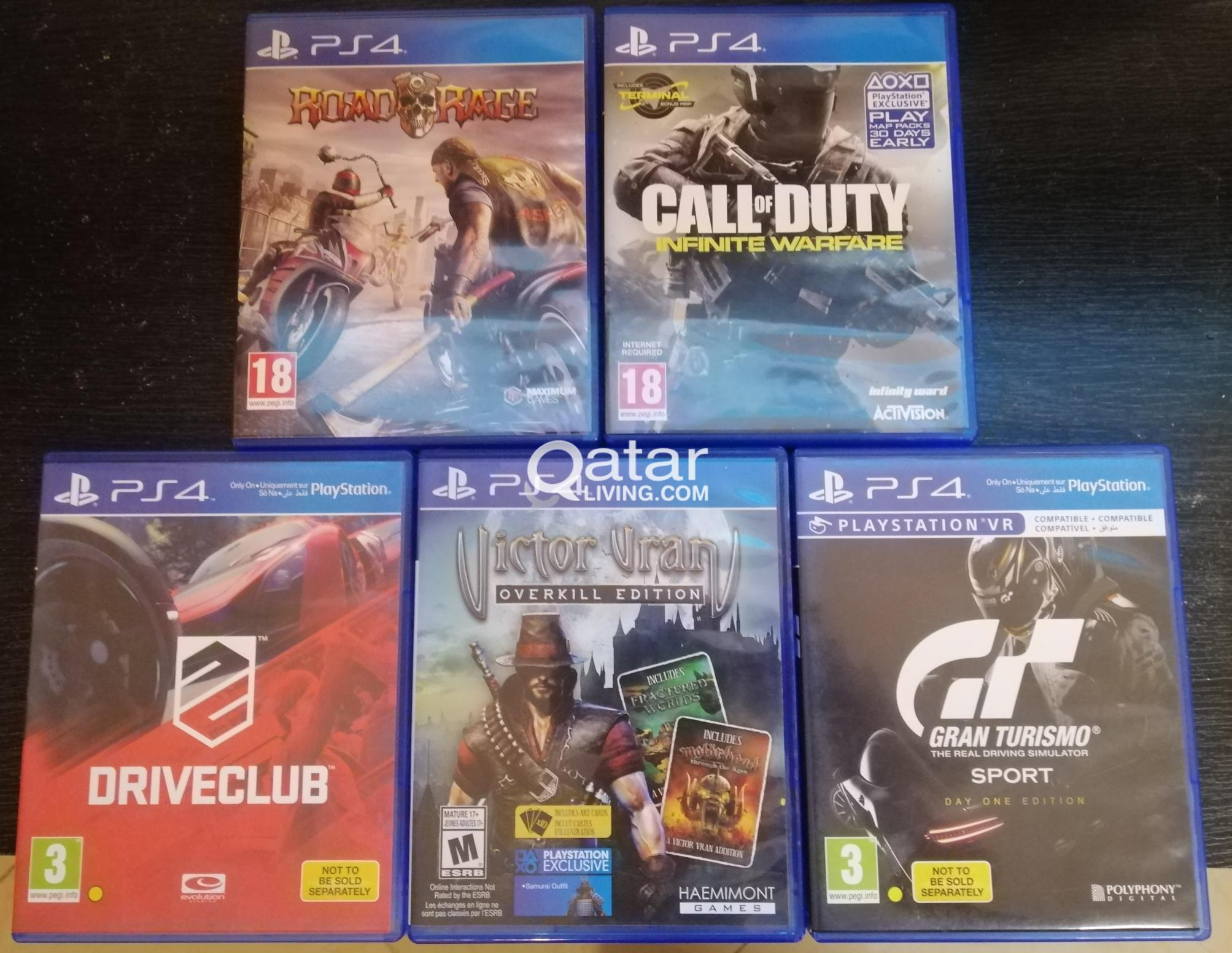 PS4 Games CD's + PSP with 2 Games CD's & 2 Hollywood Movies original DVD's