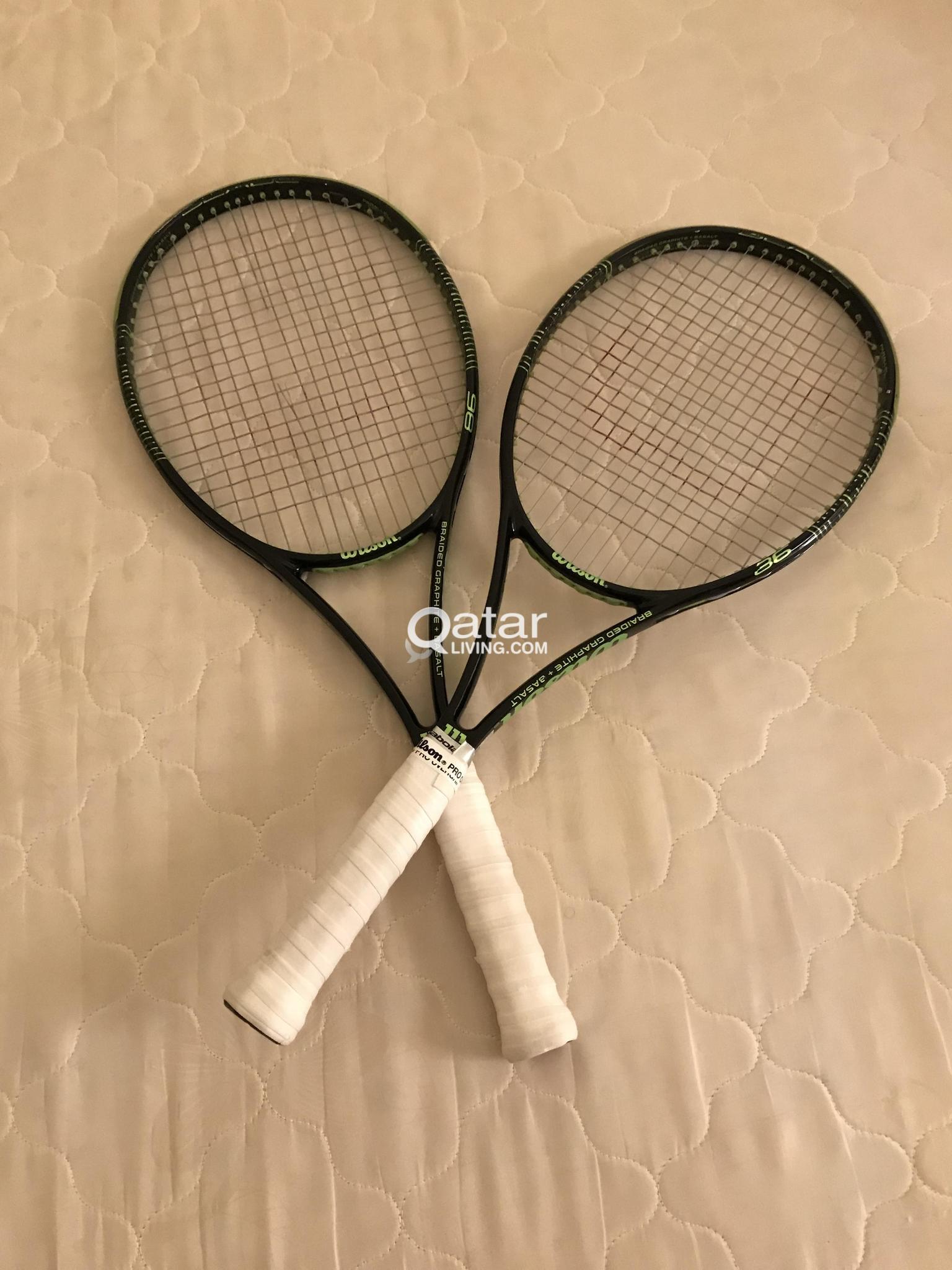 Wilson blade 98 tennis rackets x 2 | Qatar Living