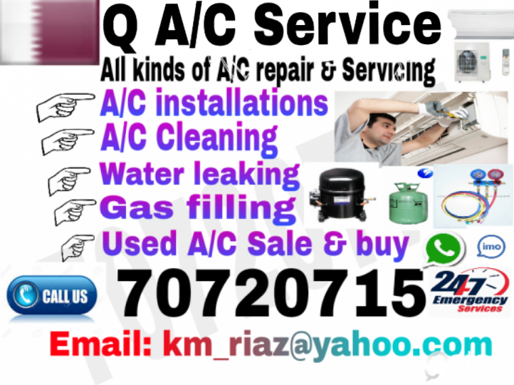 AC Service AC Installation AC Cleaning  Fixing Gass Filing Water licking Used AC Sale & Buying