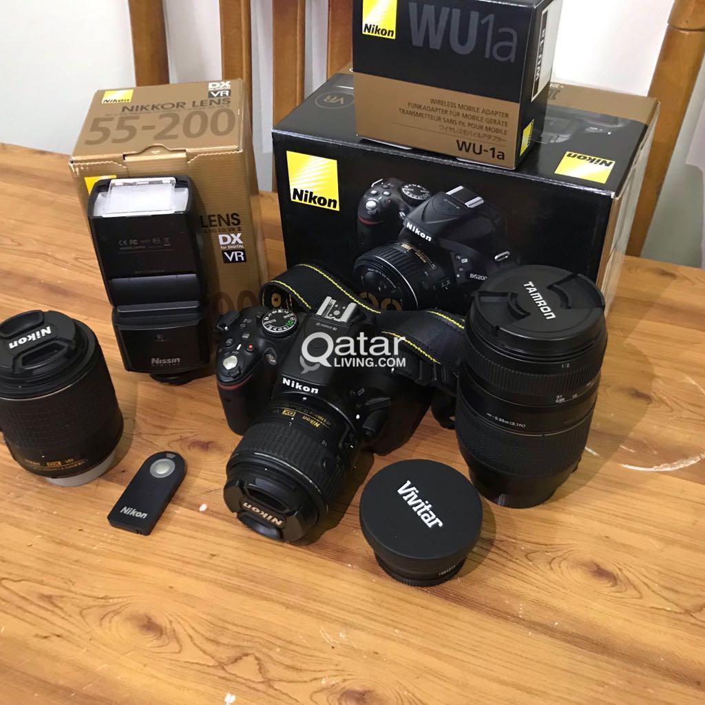Nikon D5200 with 4 lens | Qatar Living