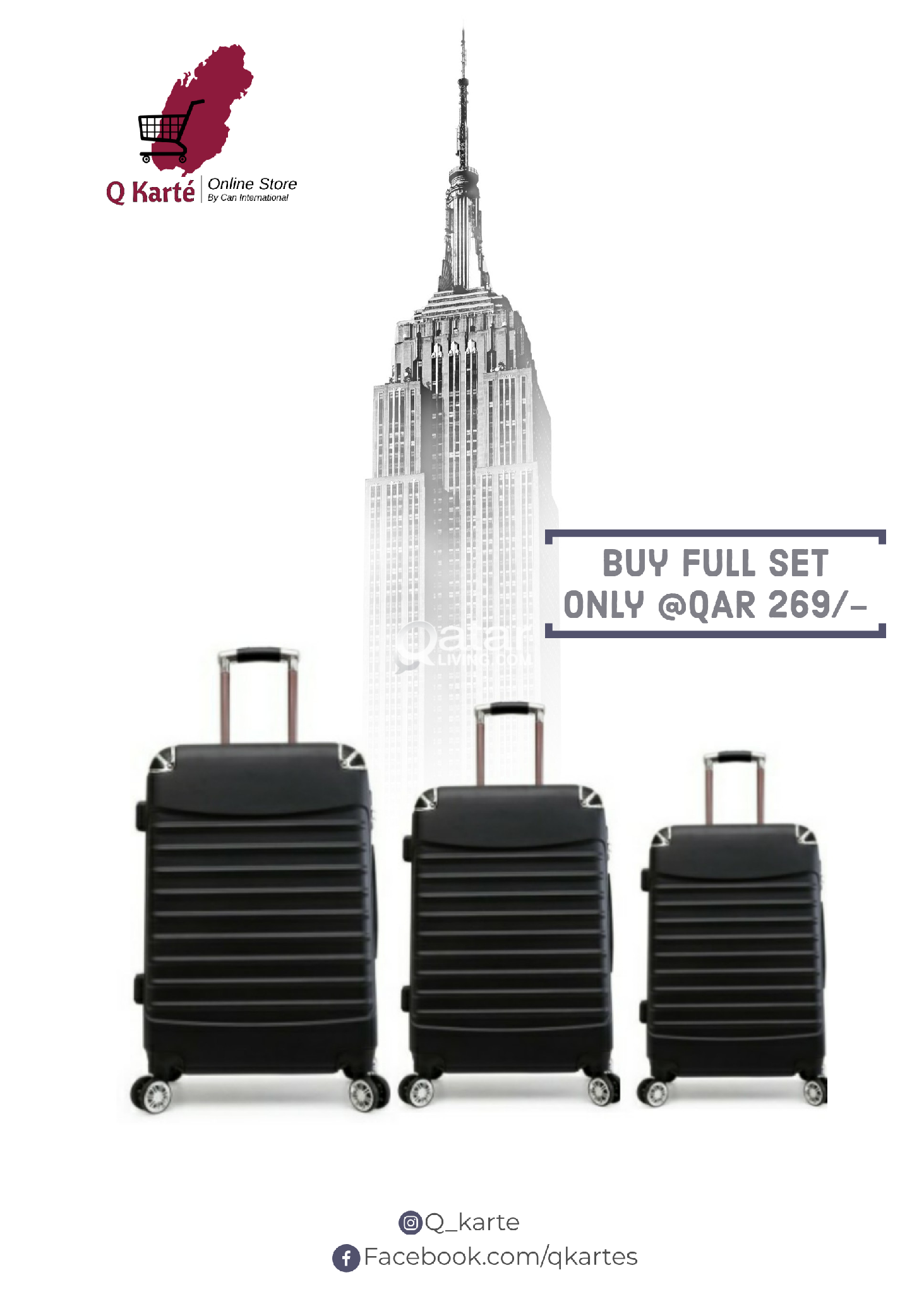 galaxy trolly bags / luggage set
