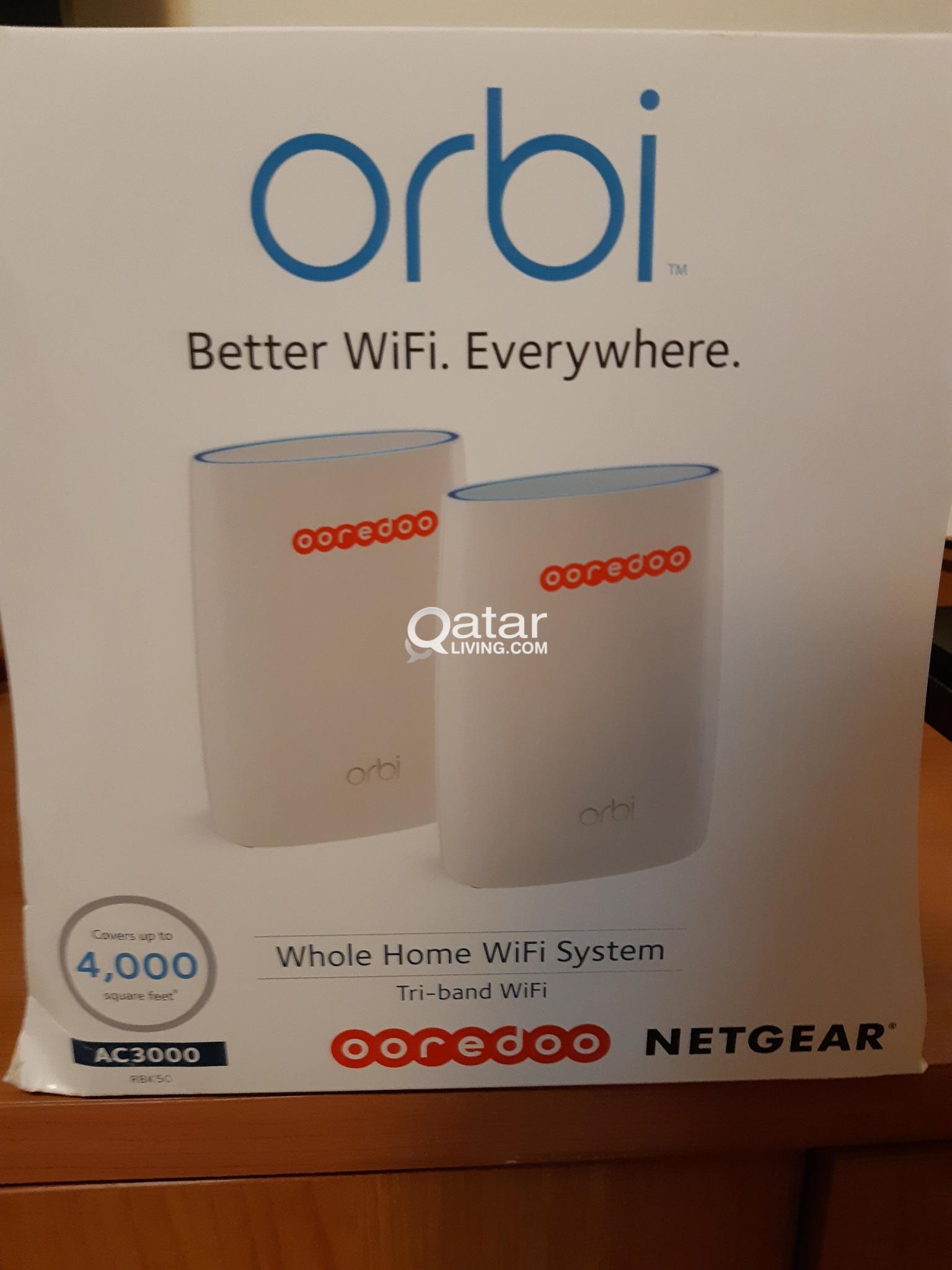 Ooredoo NETGEAR Orbi Mesh Wifi system router | Qatar Living