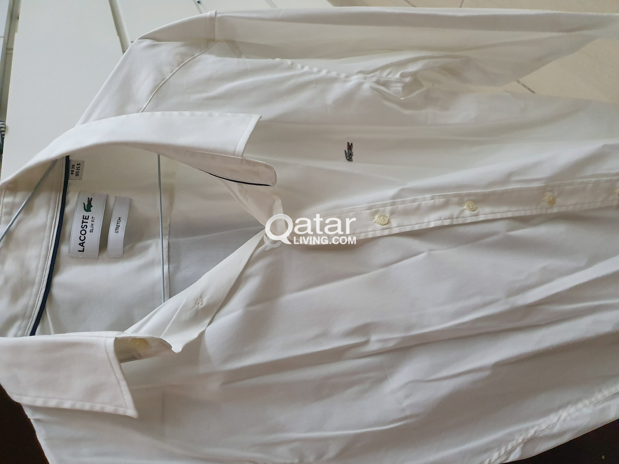 Lacoste original white stretch shirt