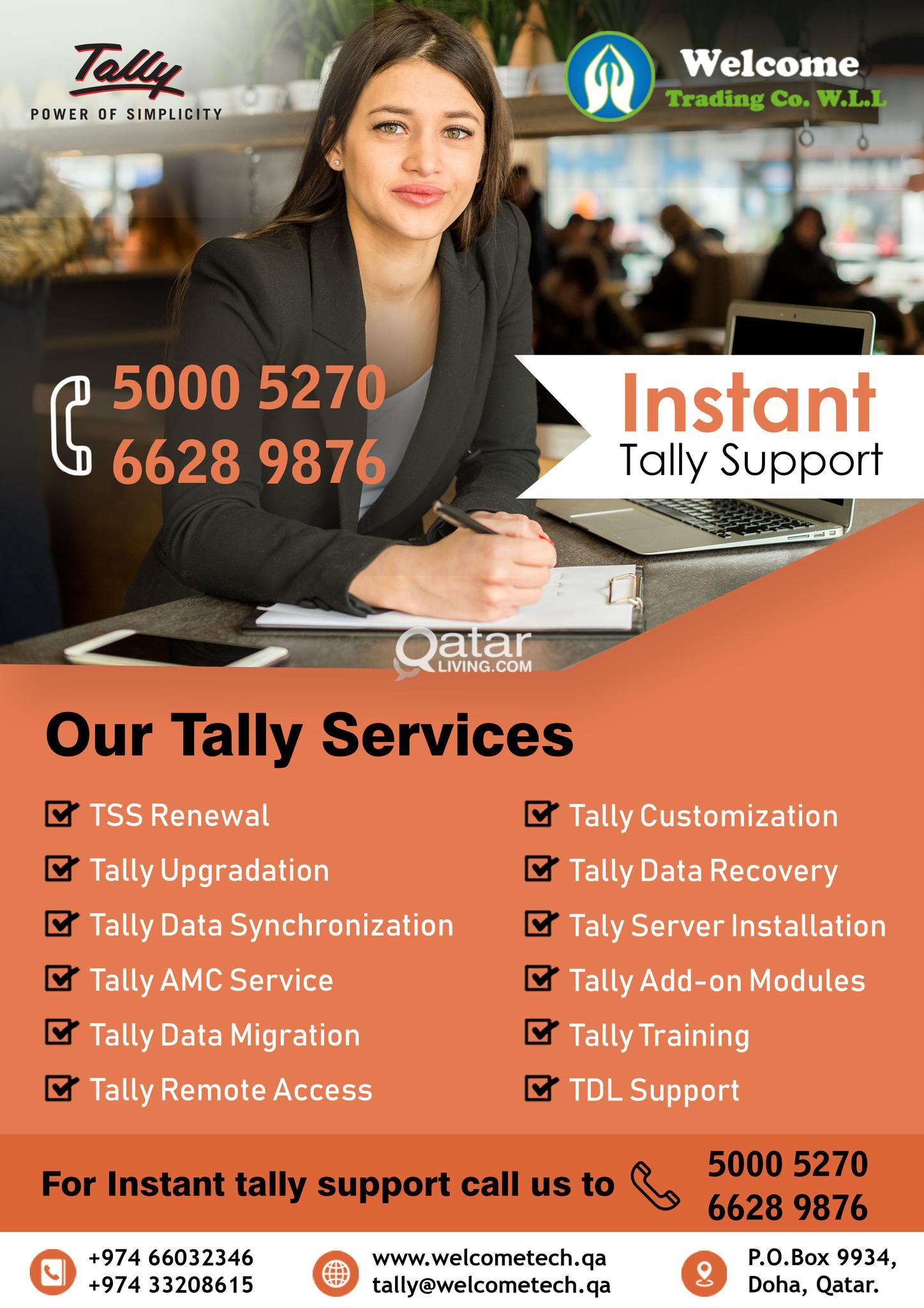 Tally Support in Qatar 24 x 7