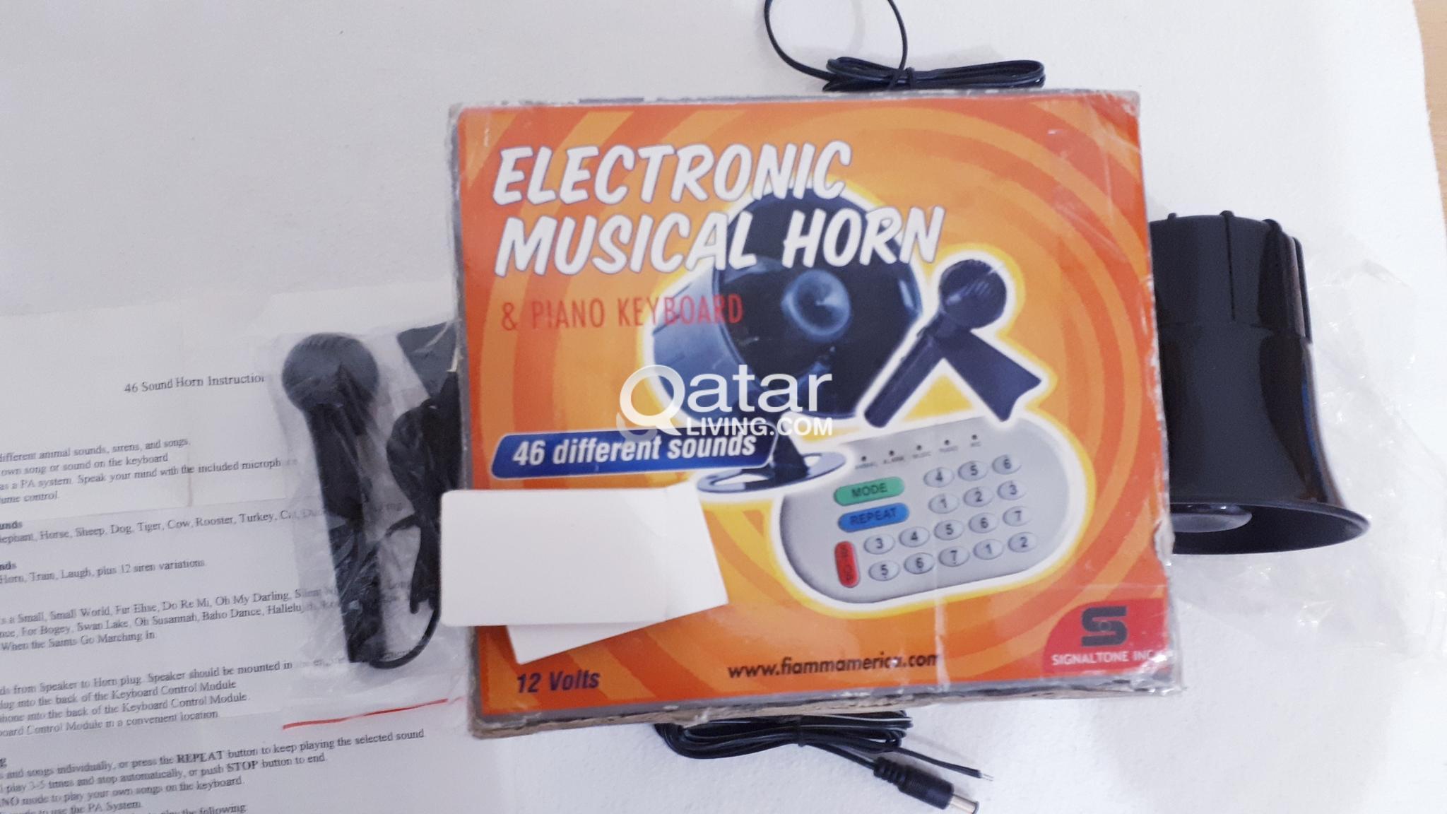 SALE!! NEW Music Car Horn w/mic + Piano | Qatar Living