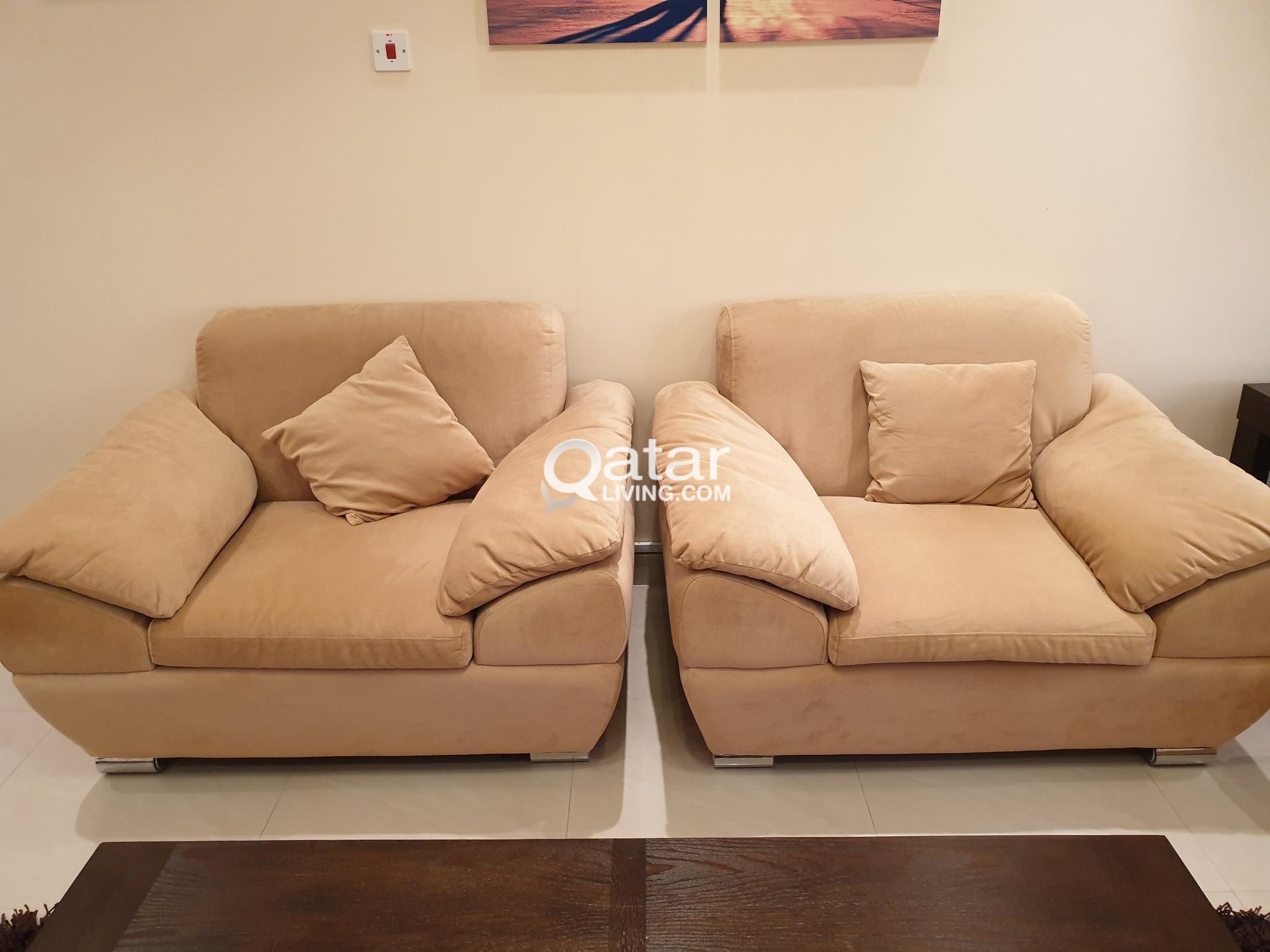 Sofa Set Living Room (Total: 4 Nos, 2 Singles, 1 Double, 1