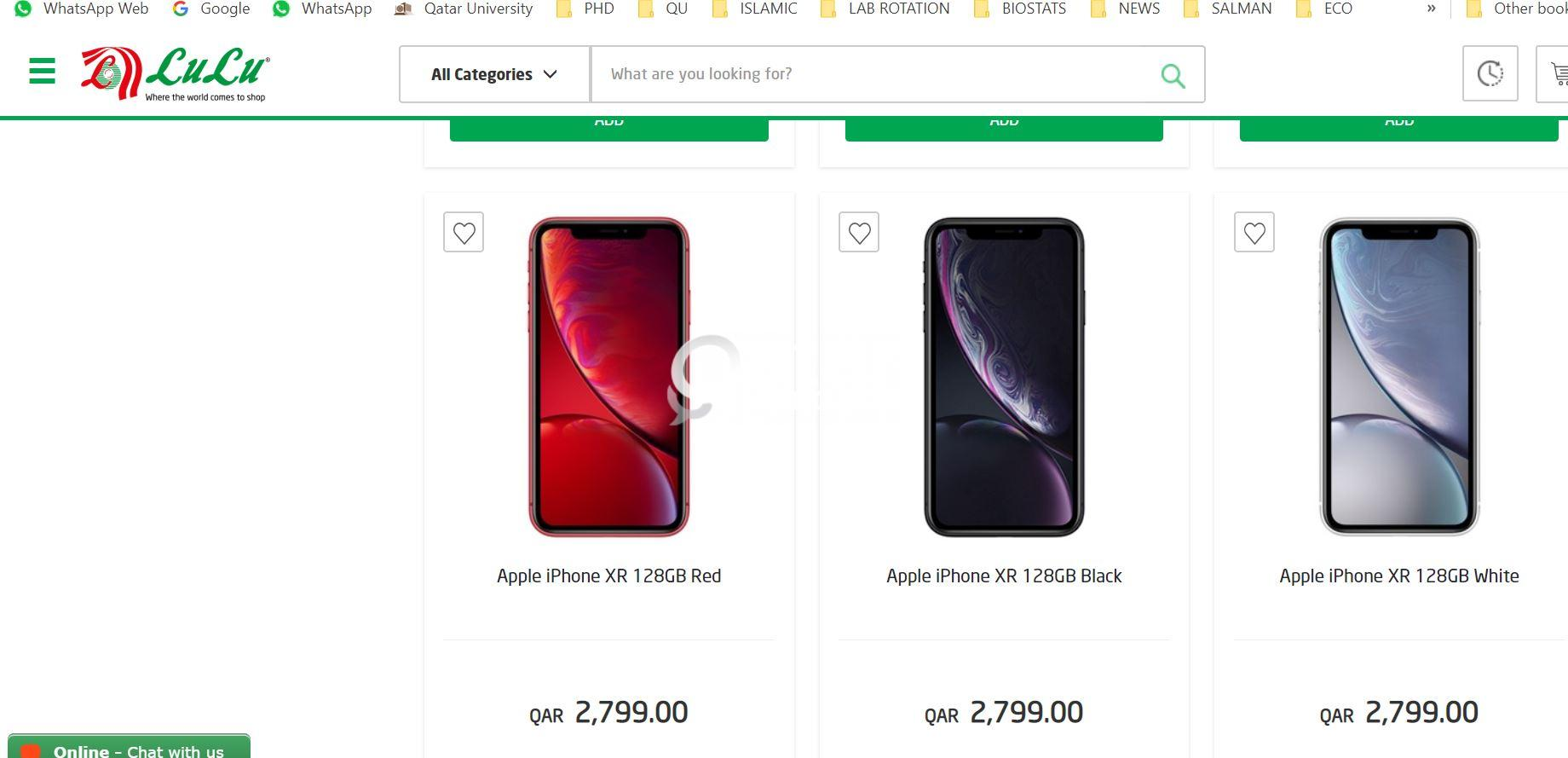 Apple iPhone XR 128 GB QAR2799 LULU AND AL ANEES | Qatar Living