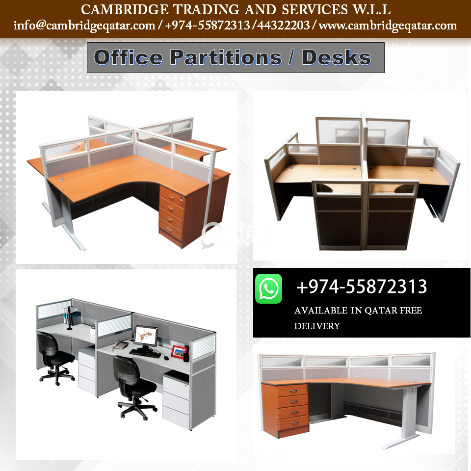 Wondrous Office Desks Office Partitions With Free Delivery Qatar Home Interior And Landscaping Ponolsignezvosmurscom