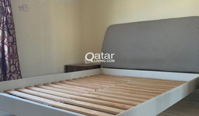 IKEA bed frame with mattress