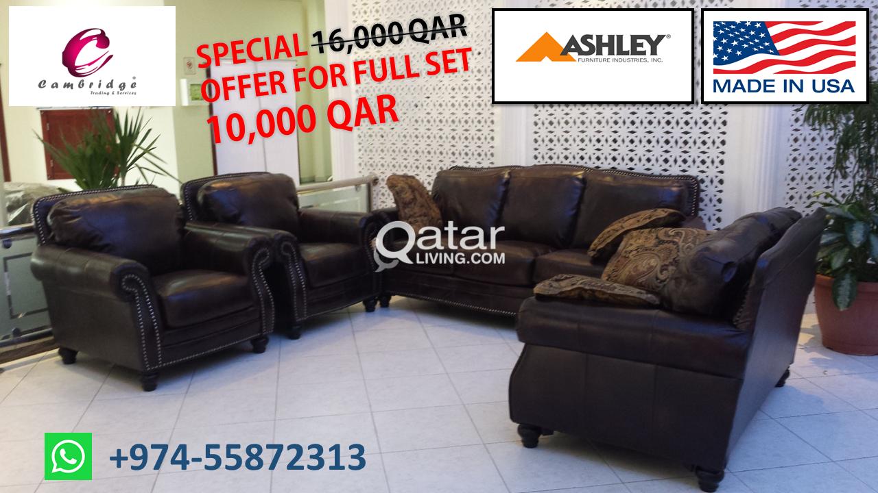 Ashley Sofa Full Set On Clearance Sale Qatar Living