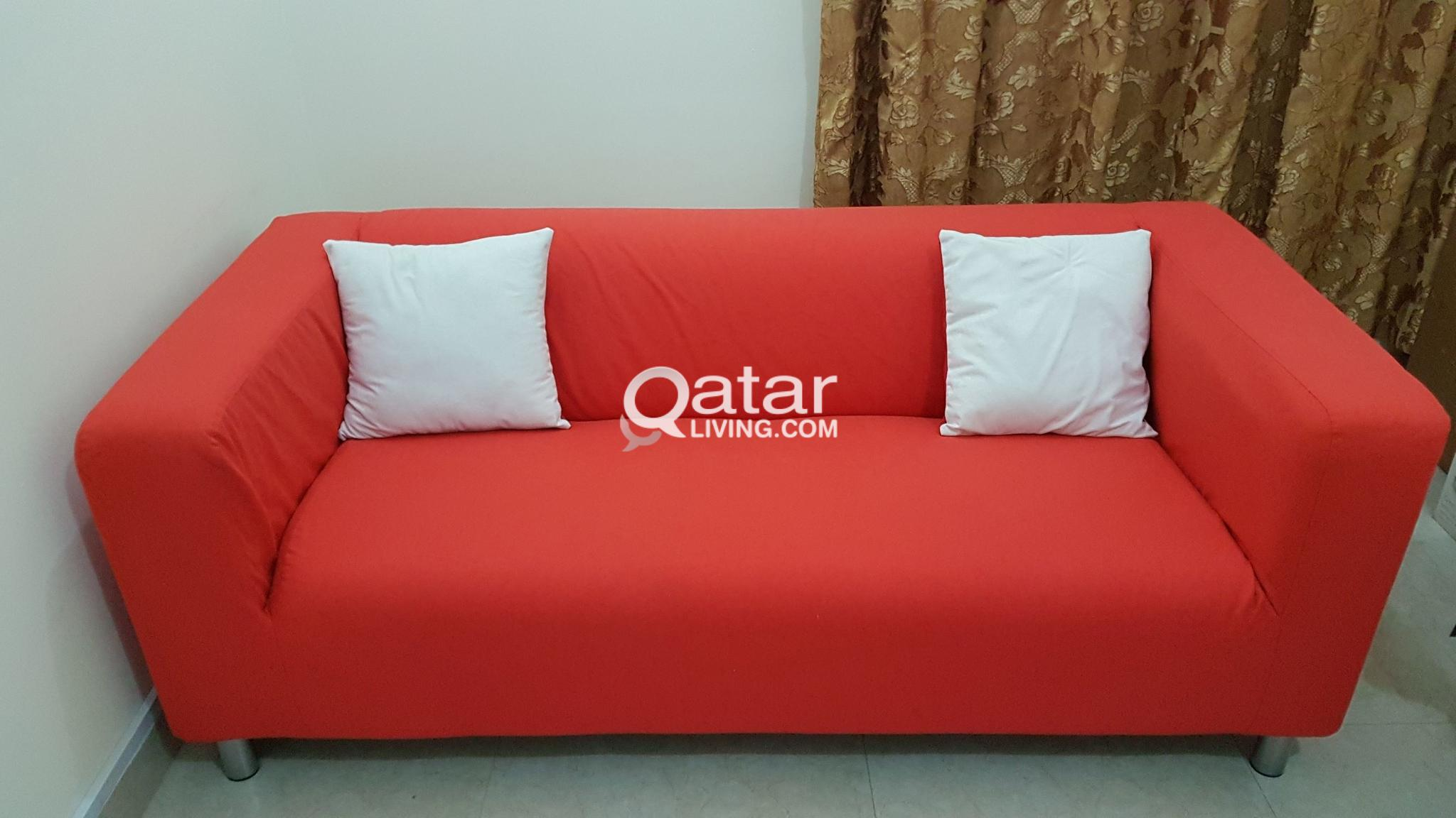 Ikea Klippan Sofa With 2 Free Cushions Qr650 Only Qatar
