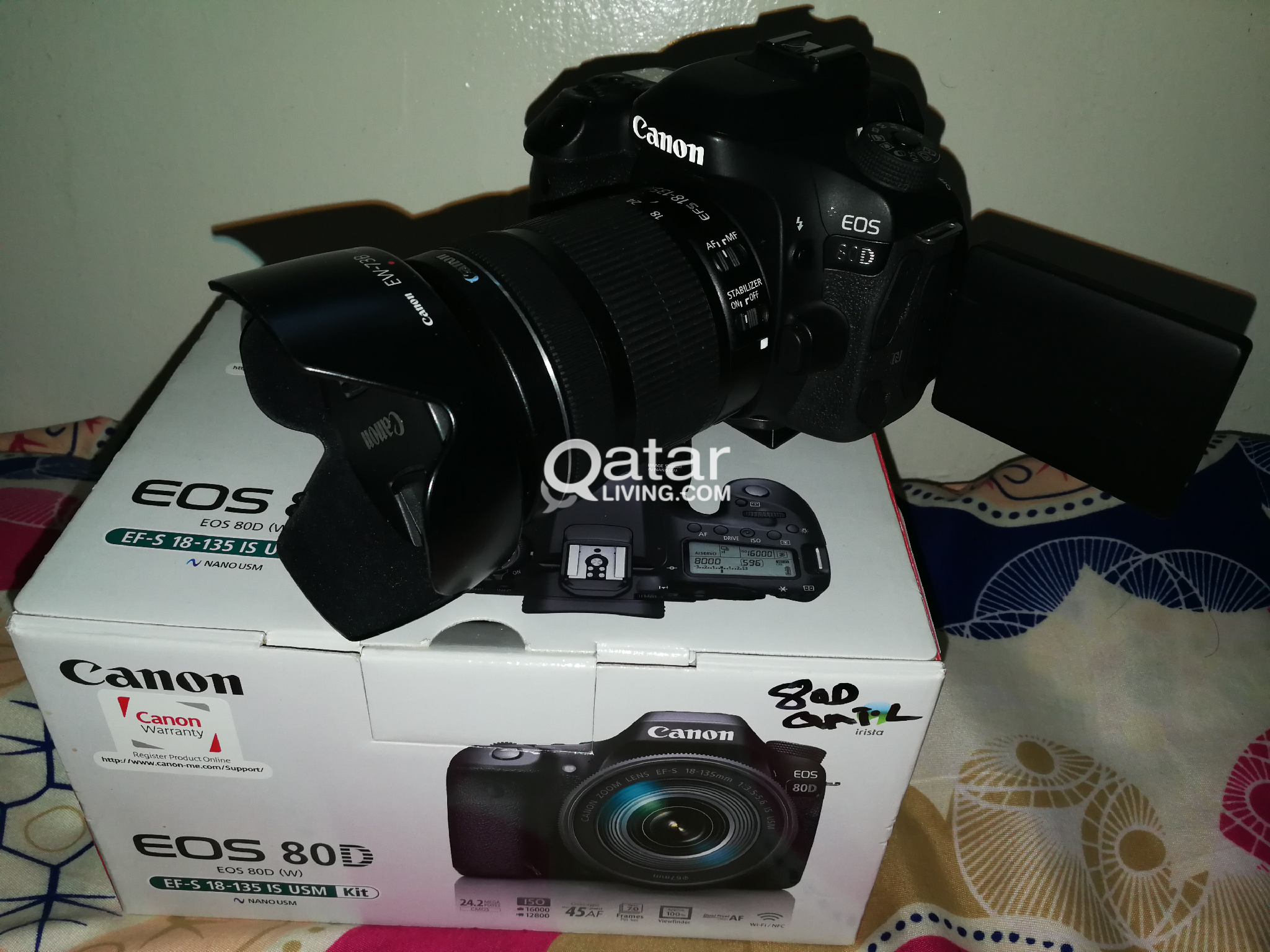 CANON EOS 80D WITH 18-135 IS STM LENS   Qatar Living