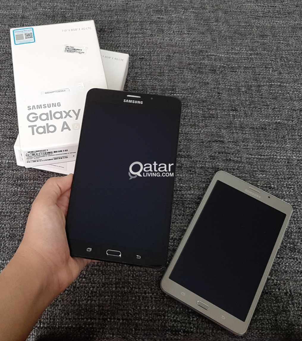 """2 Galaxy Tablet A6 7"""" (4G) Mint condition with the box"""