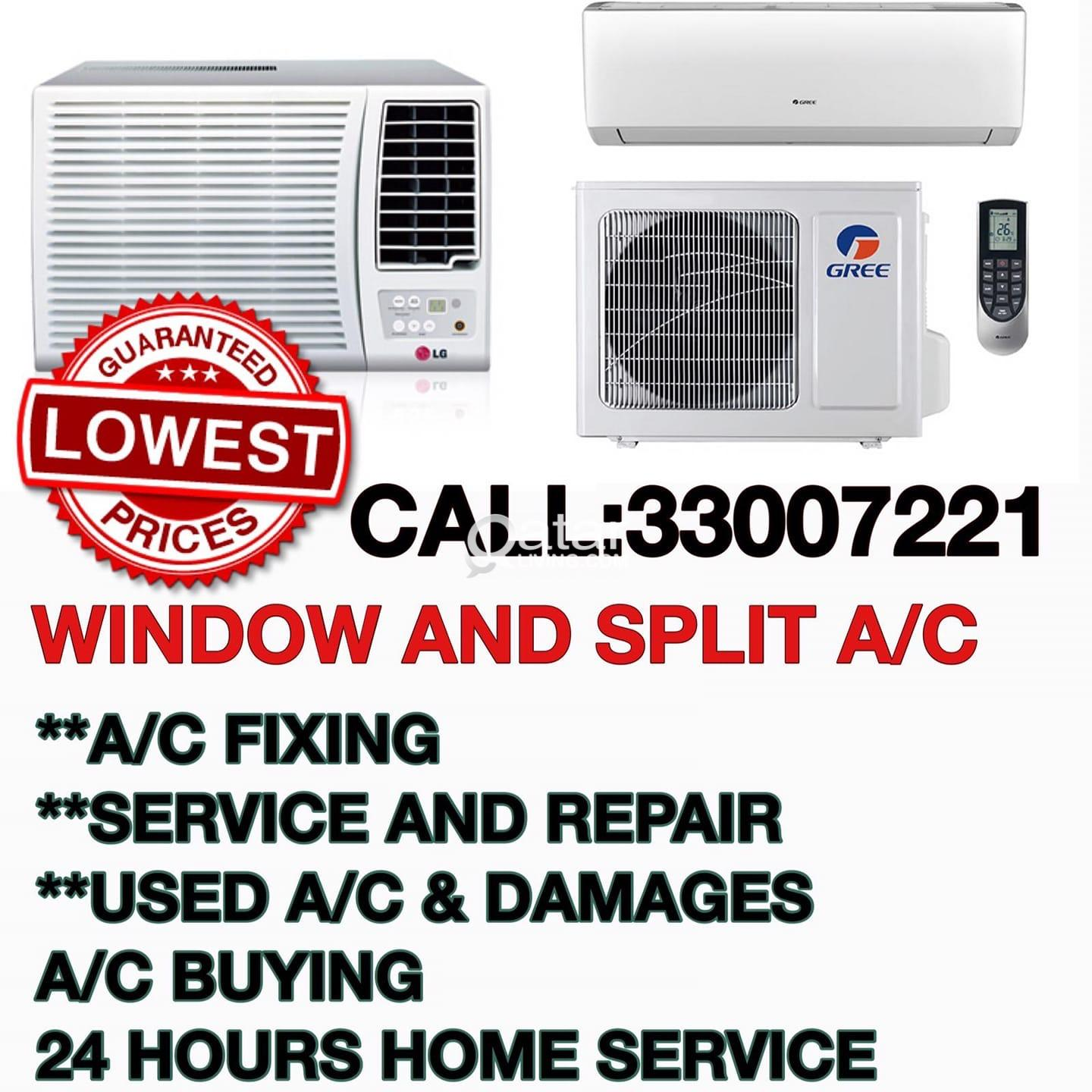 We buy and sell used ac also repair/servicing for all type