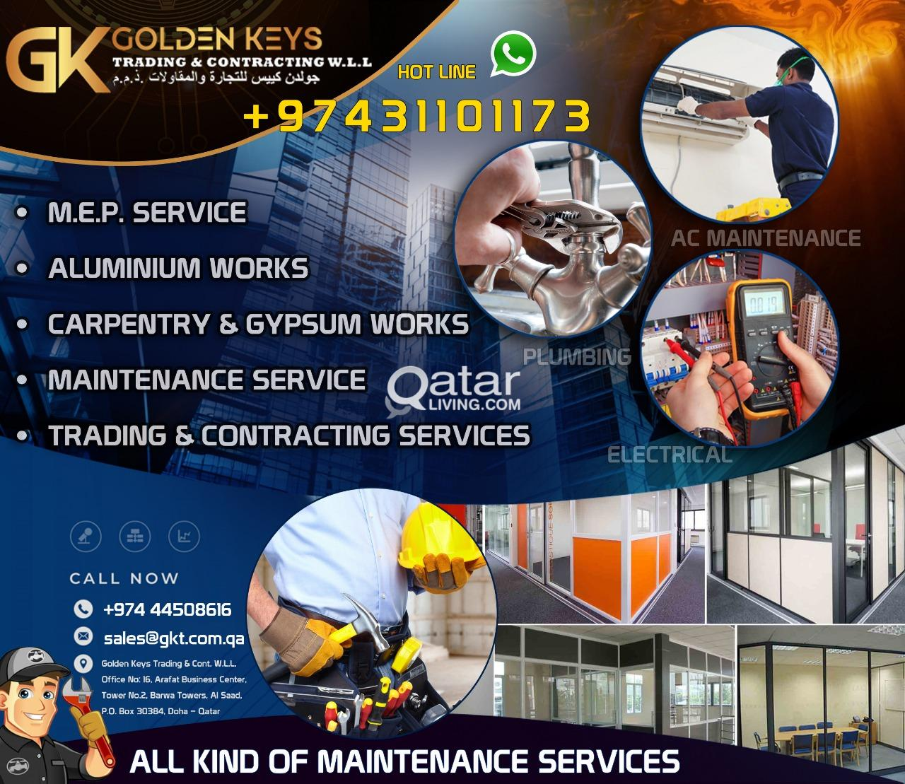 All kind Of Maintenance Services & MEP Works | Qatar Living