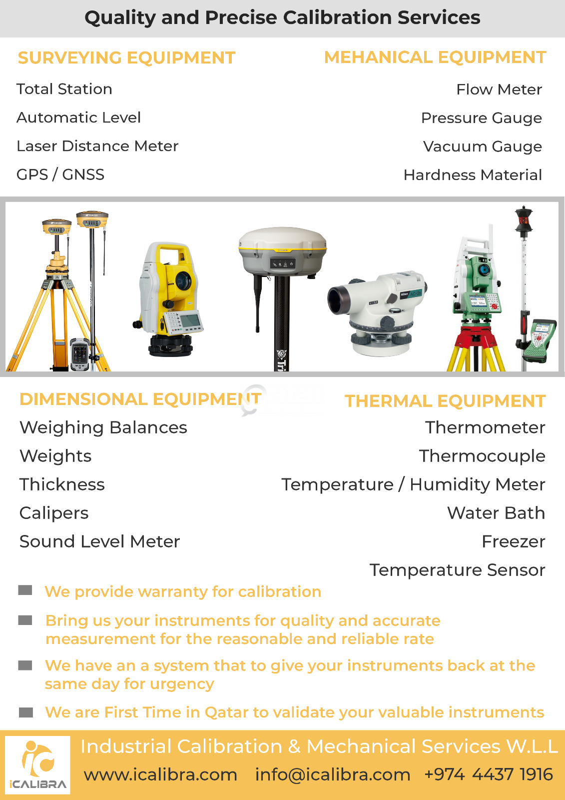 Industrial calibration and mechanical service | Qatar Living