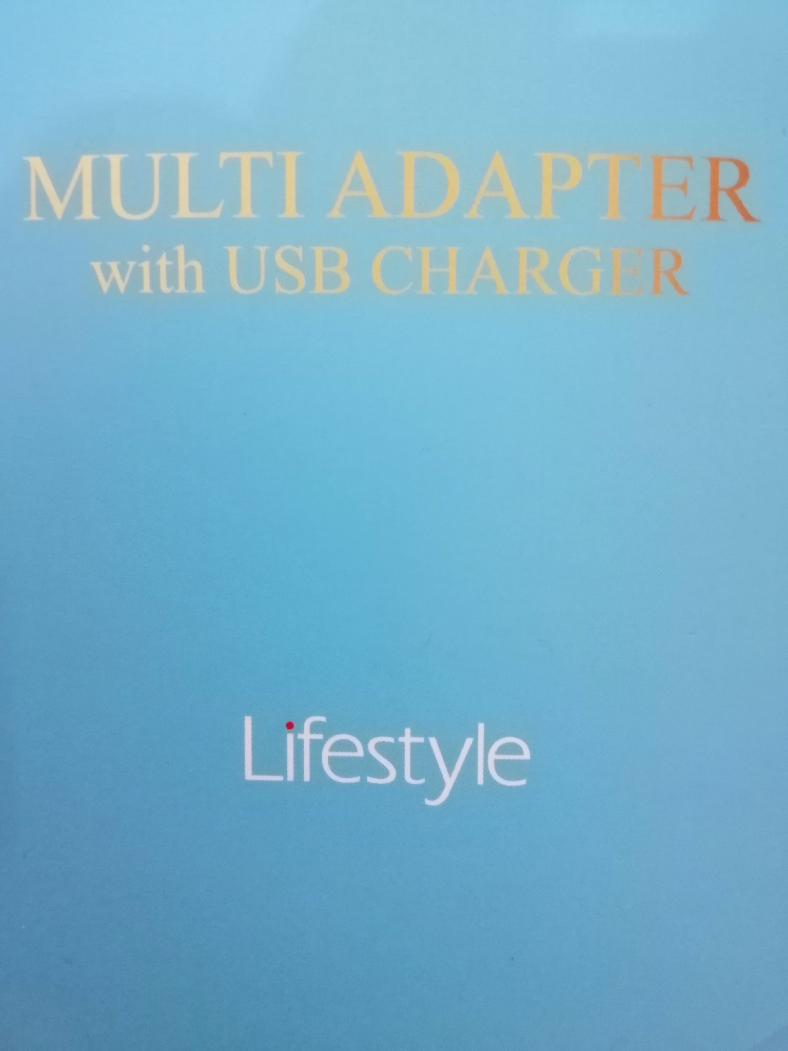NEW MULTI ADAPTER WITH USB CHARGER