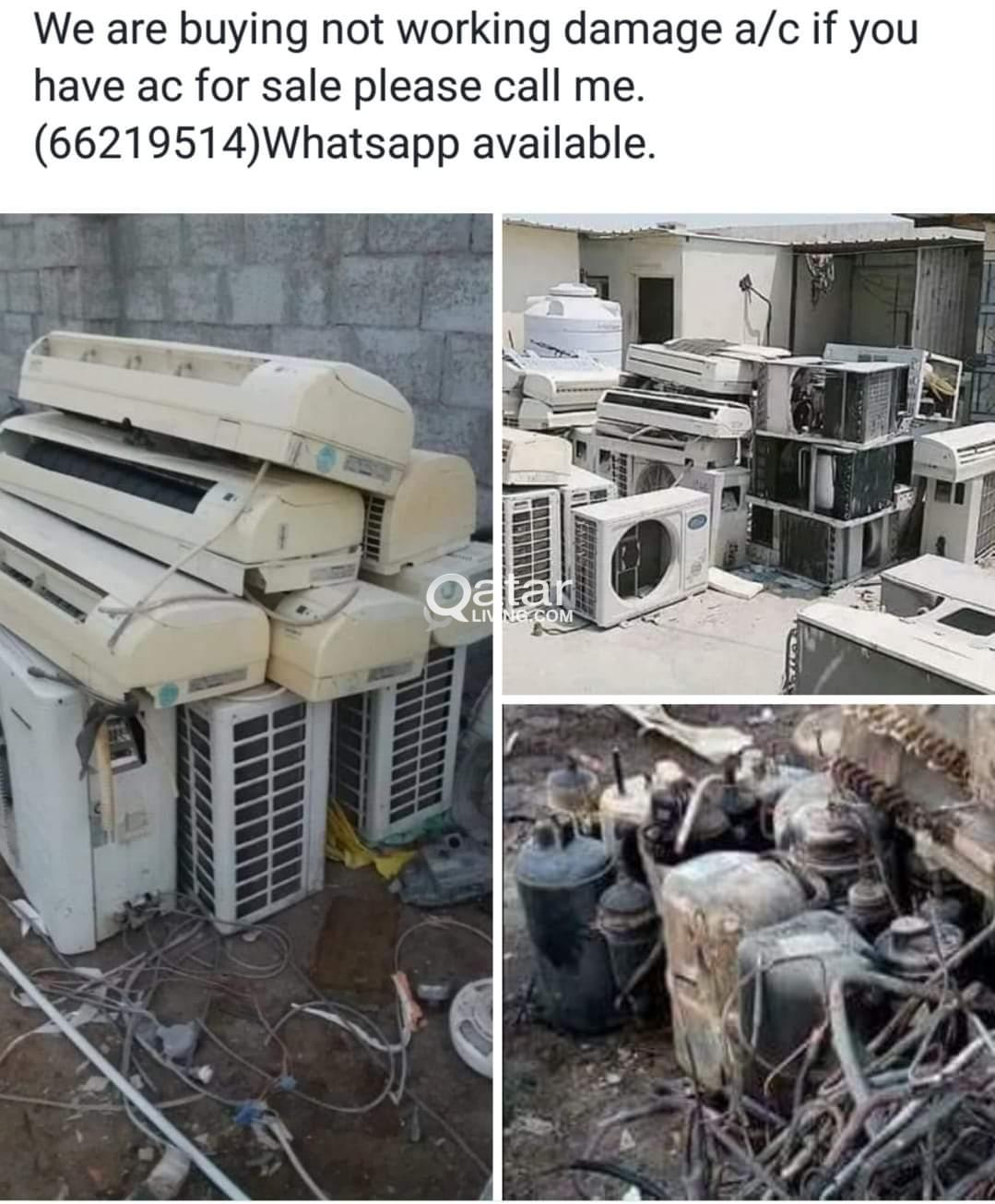 If you have damage ac just call me .we are buy not