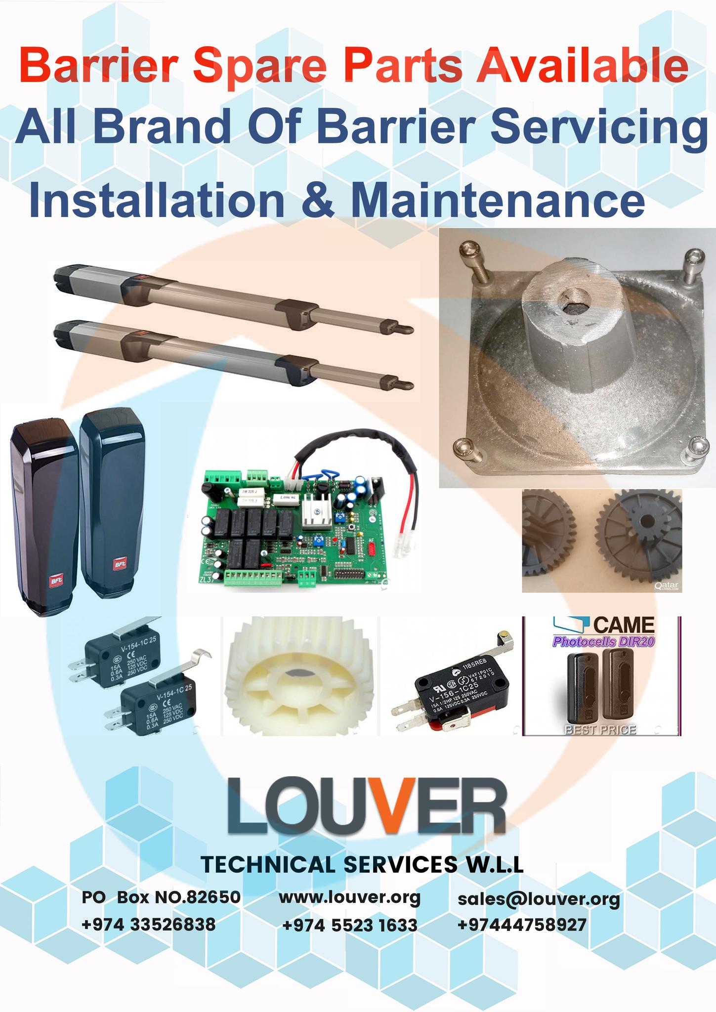 Barrier Spare Parts, Servicing & Maintenance