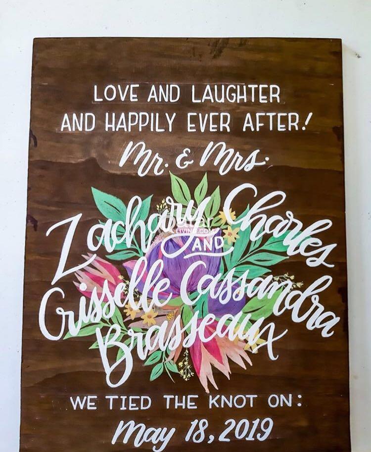beautiful gift calligraphy on wood