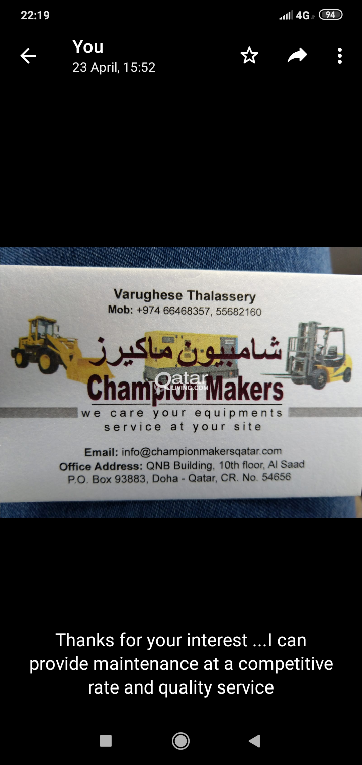 Forklift and heavy equipment repair