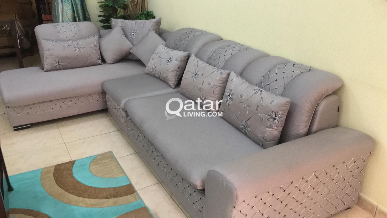 L Shaped Sofa With Cushions For Sale Qatar Living