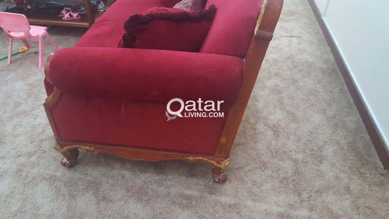 Red Sofa for sale | Qatar Living