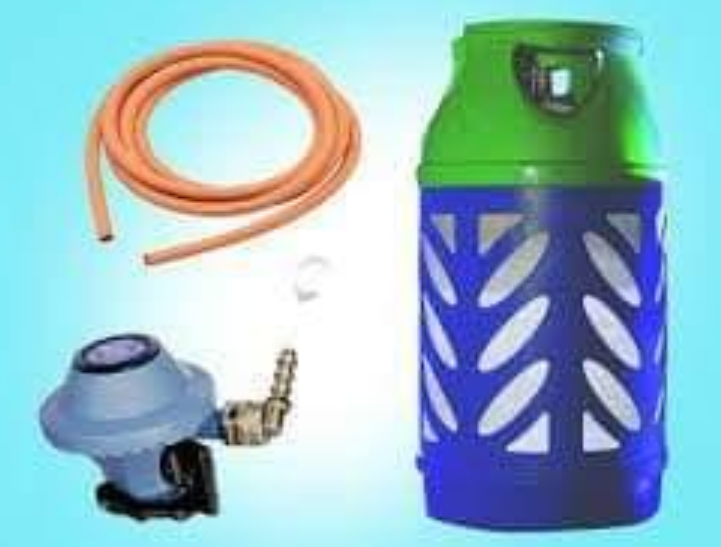 Gas cylinder + regulator and pipe QR 335/- CALL OR