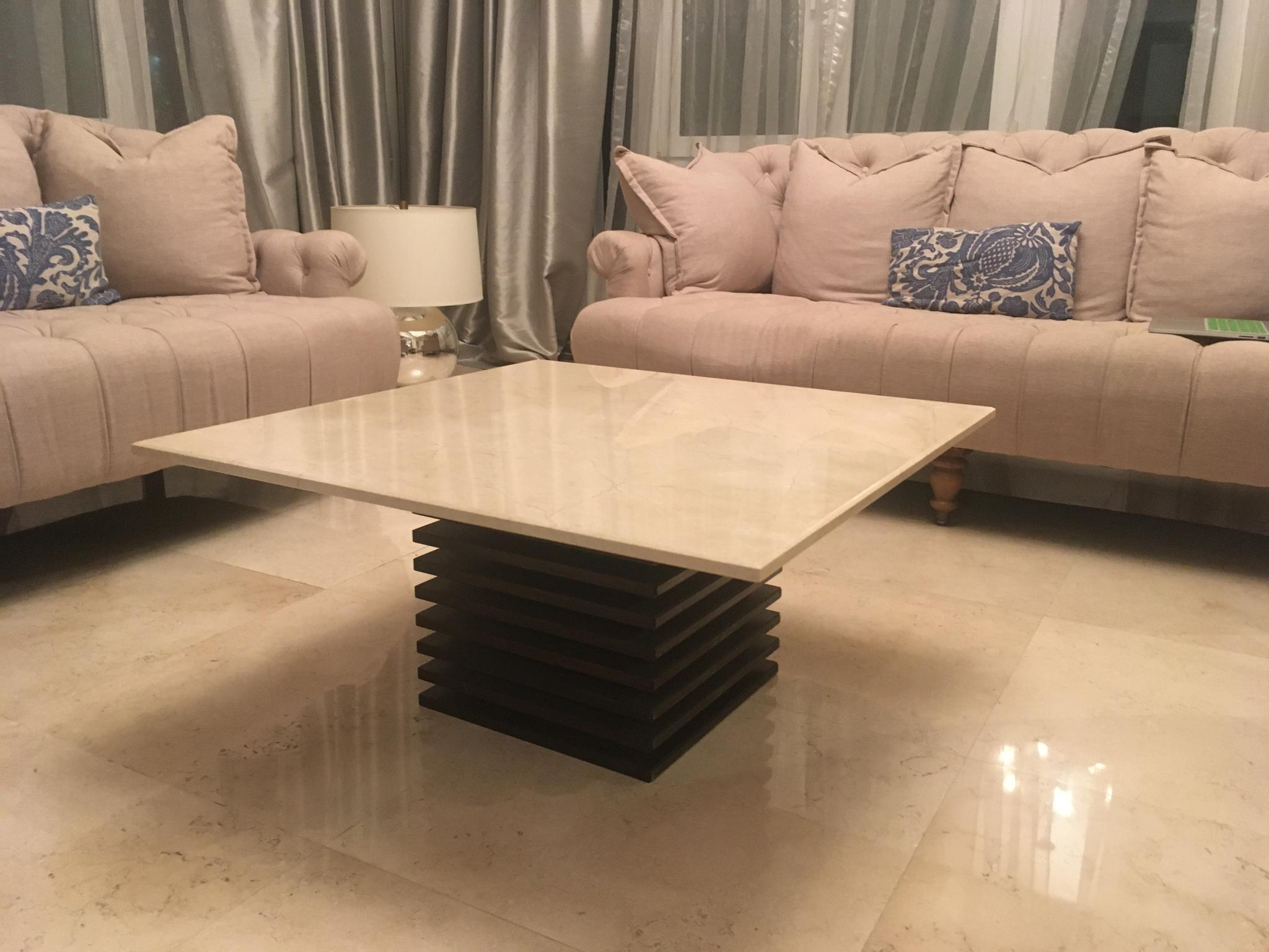 Black Marble Top Coffee Table (Not White like in t