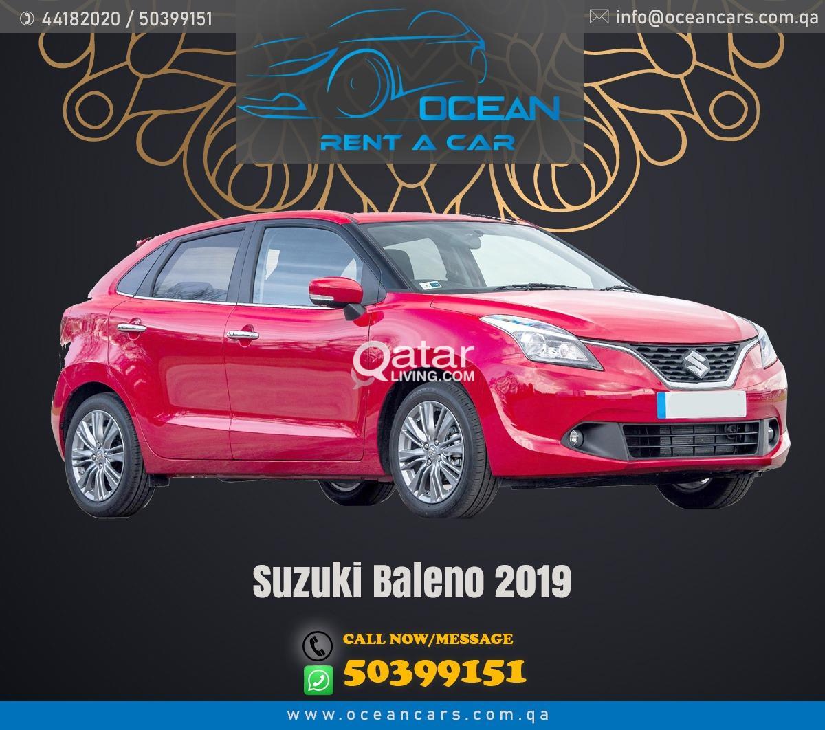 SUZUKI BALENO 2019 MODEL ONLY 455 QAR FOR WEEKLY