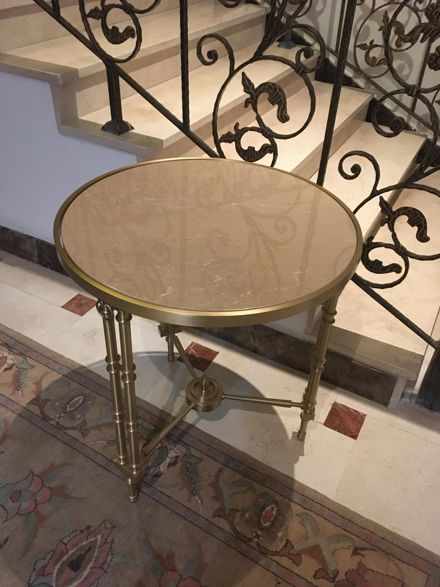 Marble & Gold Plated Small Coffee Table