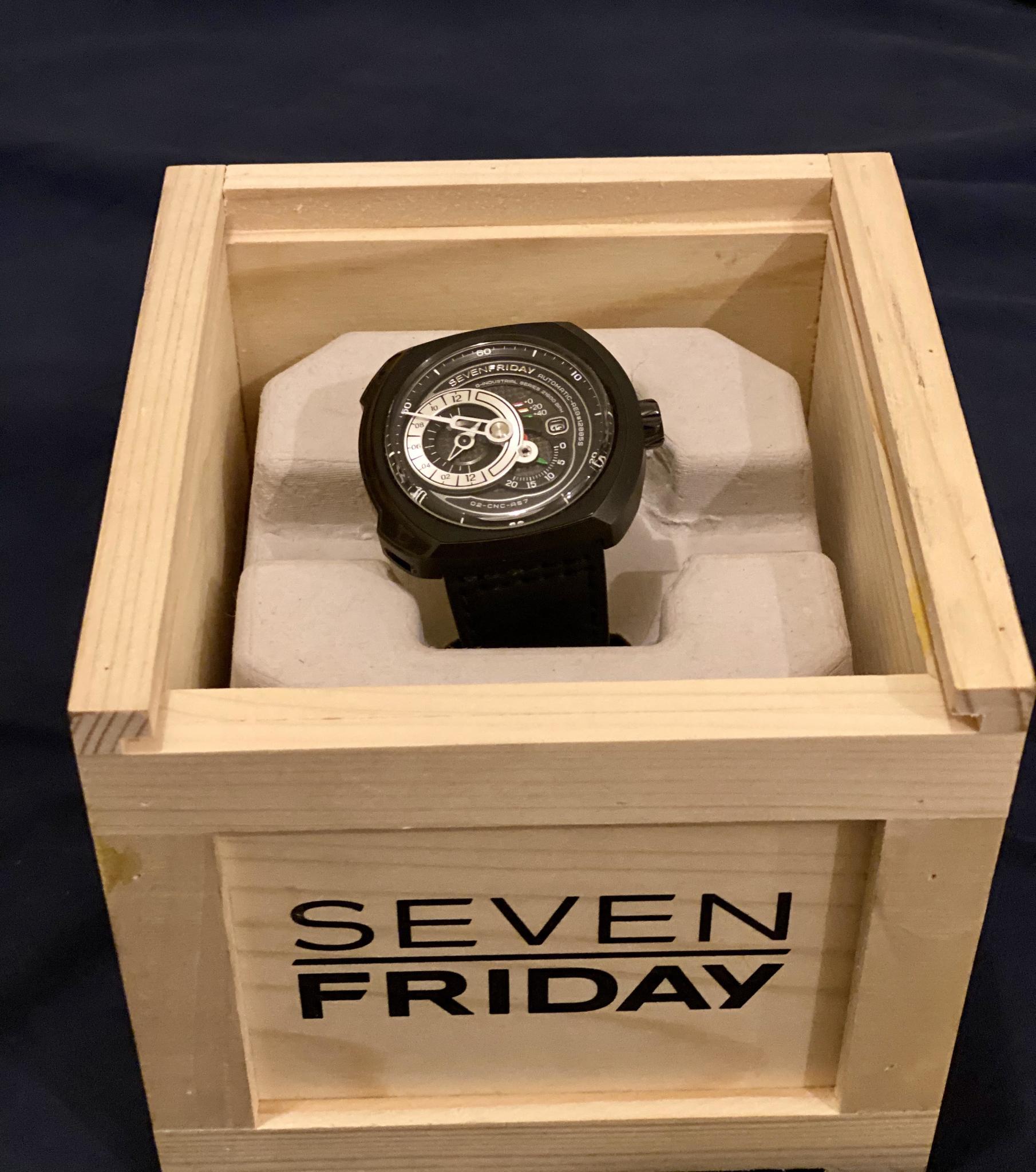 Seven Friday Q-Series Black Dial Automatic Men's W