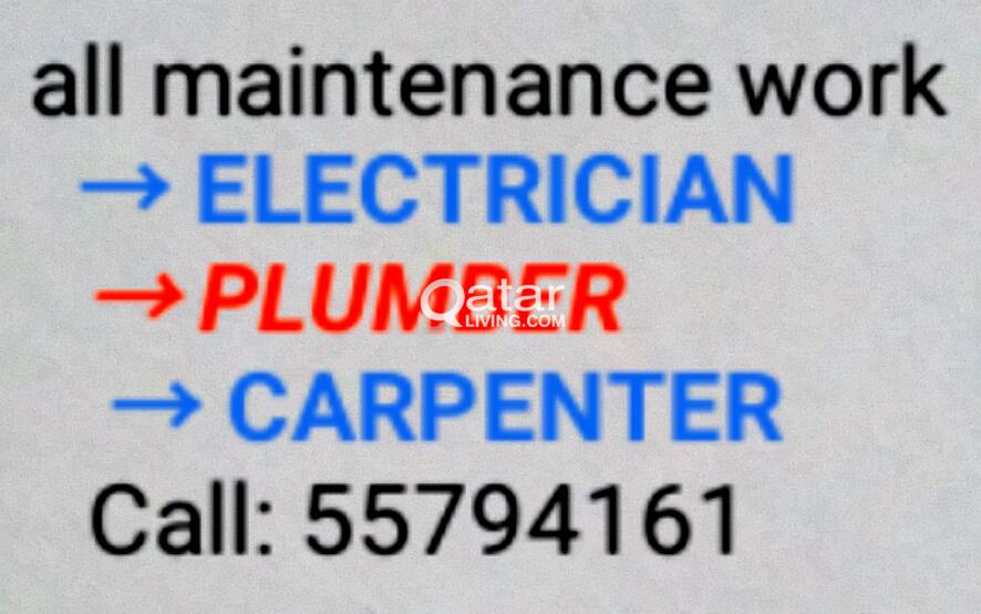 Electric, plumbing and carpenter work 55794161 dis