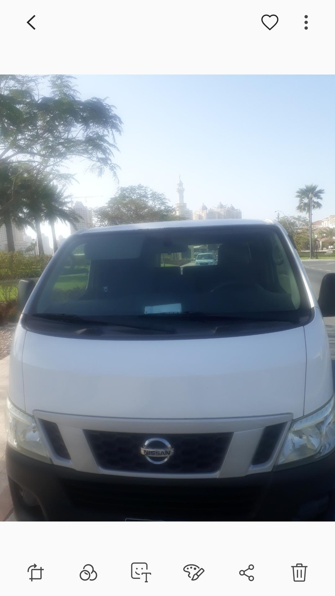 Nissan Urvan pick & drop  service available.