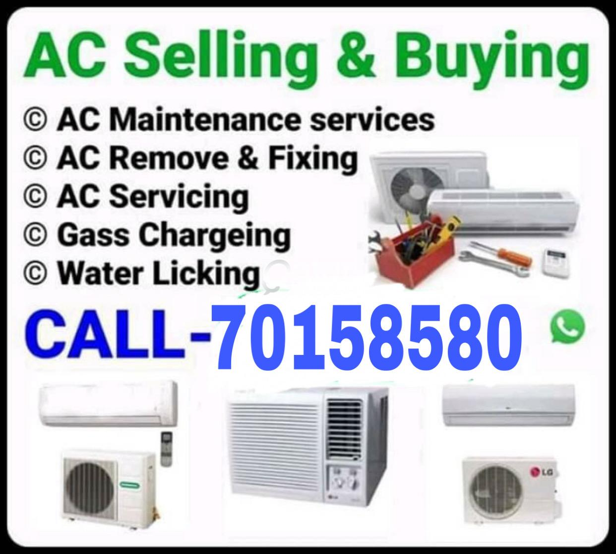 Ac fixing repairing with gas and cleaning call me-