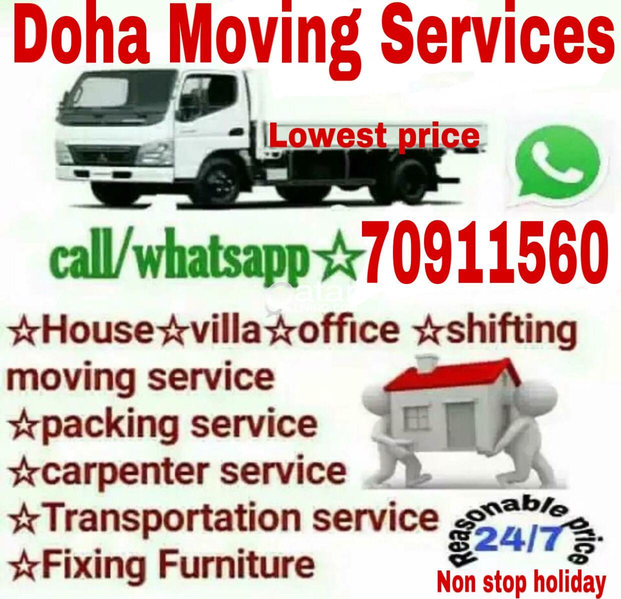 Lowest prices- Moving shifting Carpenter transport