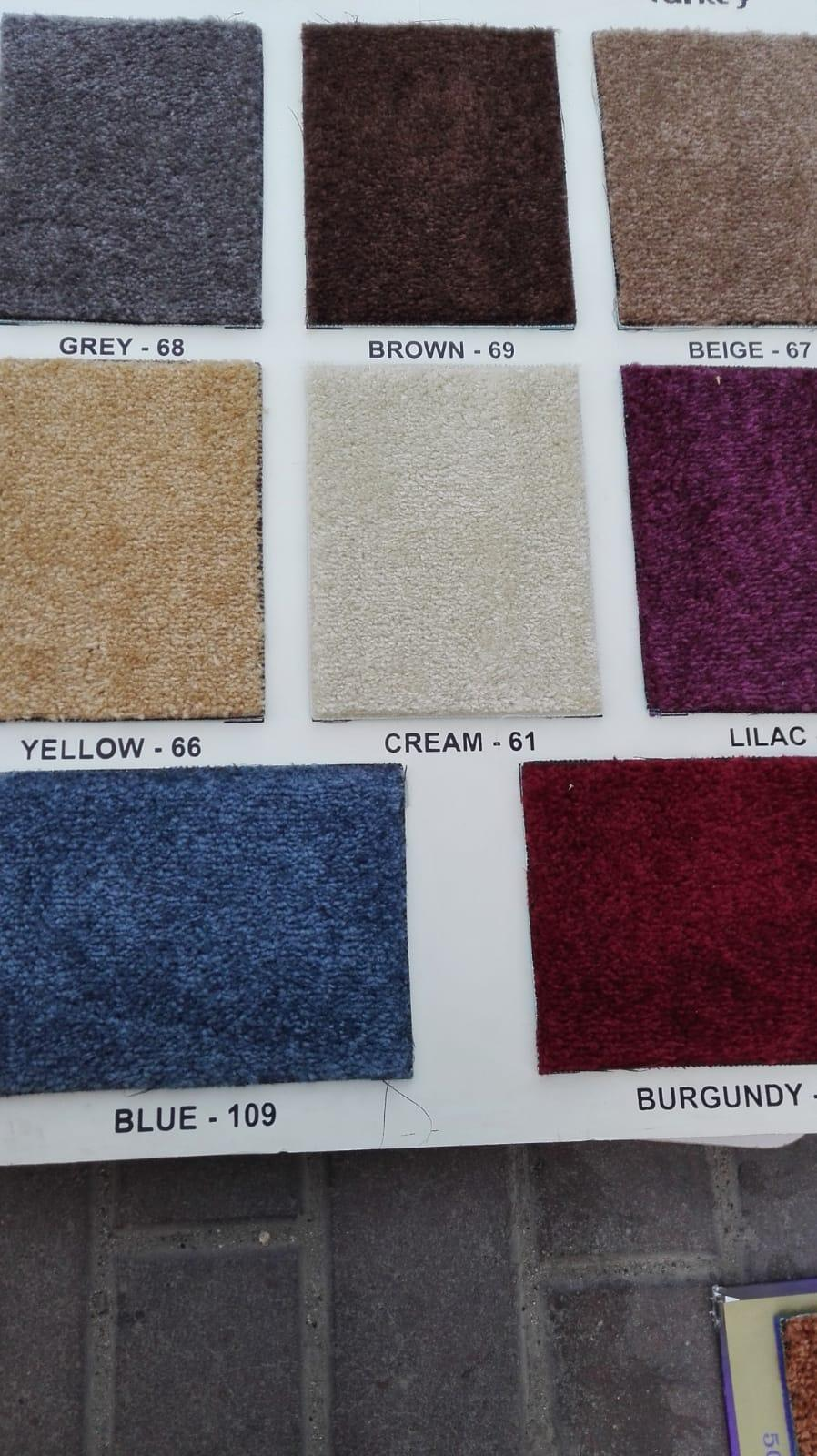 We are selling all type carpet and plastic with fi