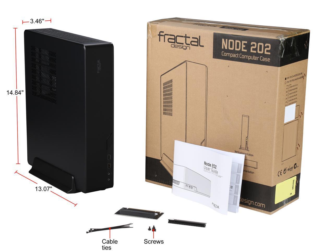 Node 202 Case - Compact Build PC case (Mini ITX ca