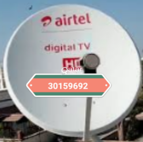 All kinds Airtel dish fixing moving Tv and any sat